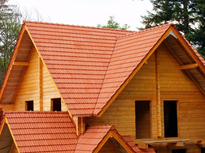 Крыши деревянных домов